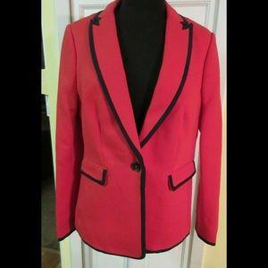 Boden jacket red w/navy trim sz 10 New! NWT